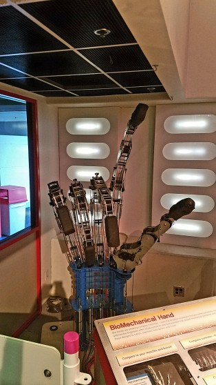 BioMechanical Hand at the Cwrnegie Science Center, Pittsburgh PA